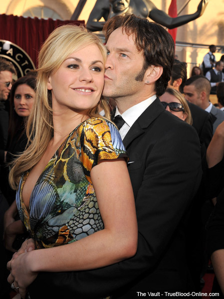 Anna Paquin and Stephen Moyer at SAG awards.
