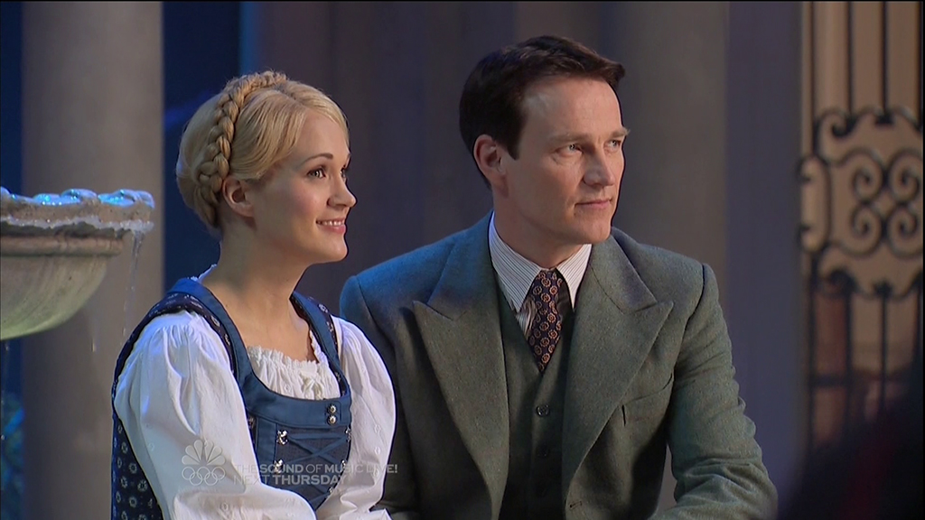 Stephen Moyer and Carrie Underwood in the LIVE production of The Sound of Music