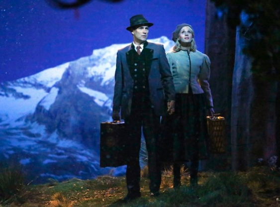 Stephen Moyer and Carrie Underwood in The Sound of Music