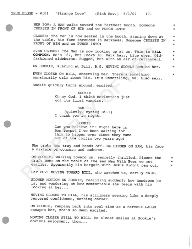 Only 3 more weeks to win a True Blood Pilot Script signed by
