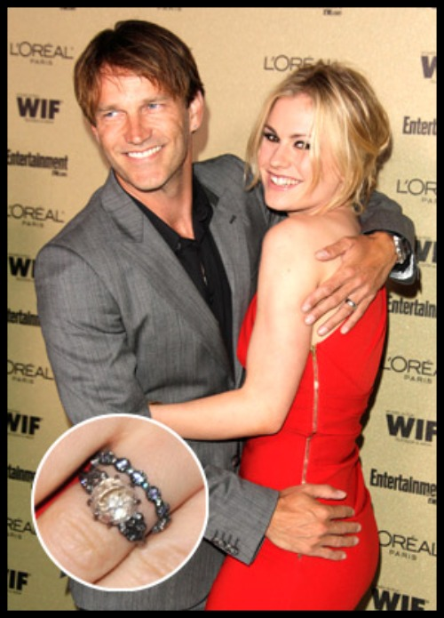 Anna Paquin S Wedding Ring Makes Top 5 Celebrity Rings Of 2010 Trueblood Online