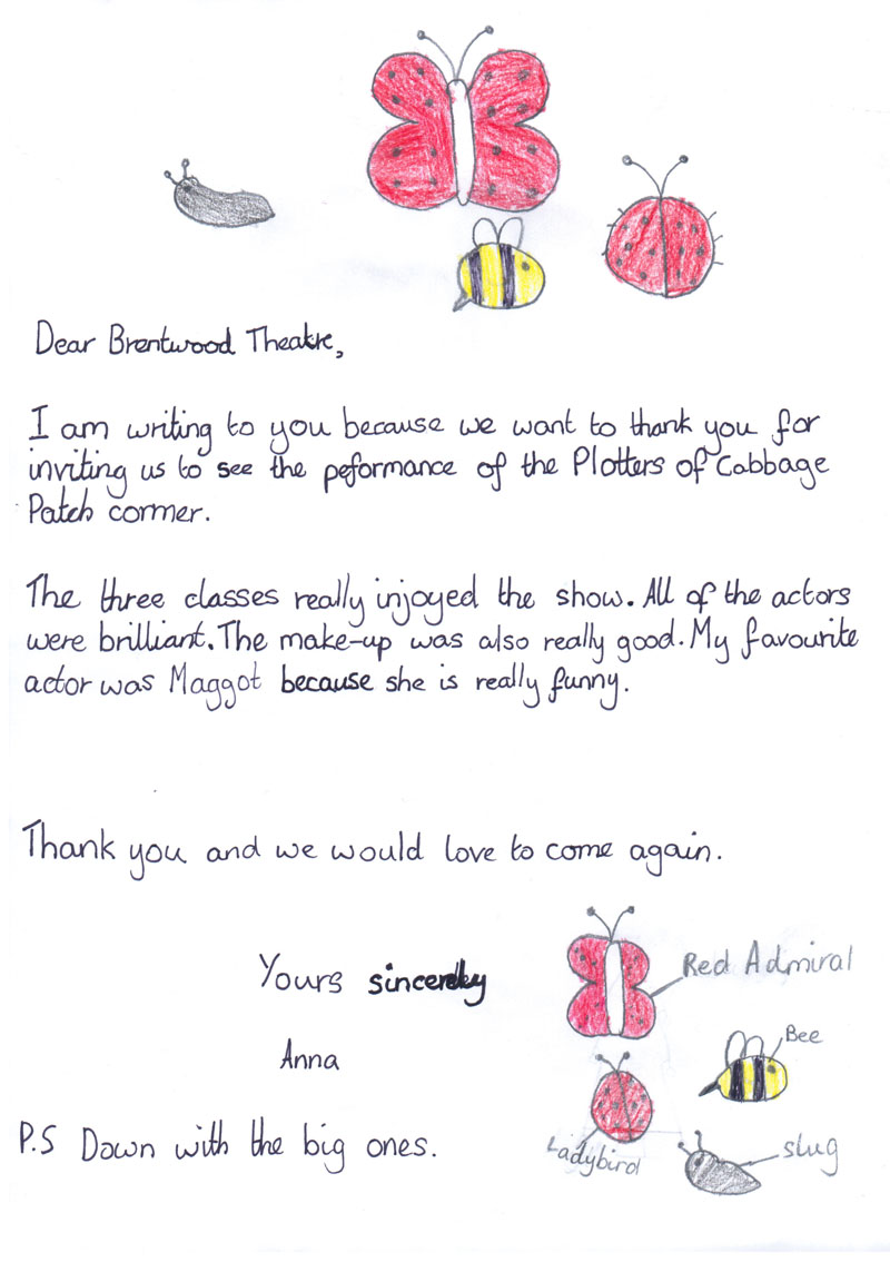 Kids Thank You Letters Images  Letter Format Formal Sample