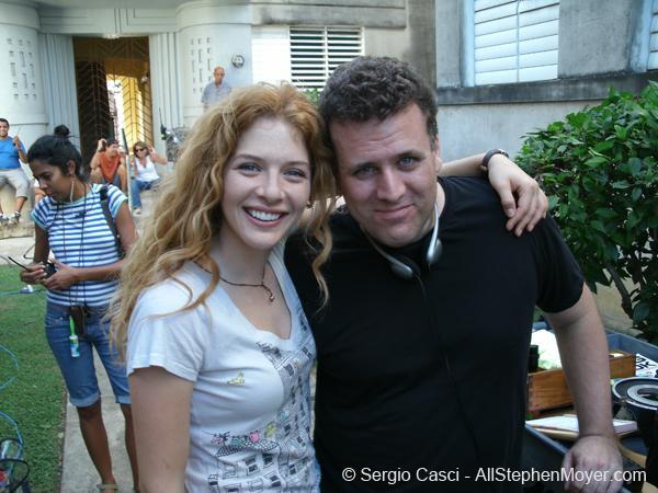 Rachelle Lefevre and Sergio Casci