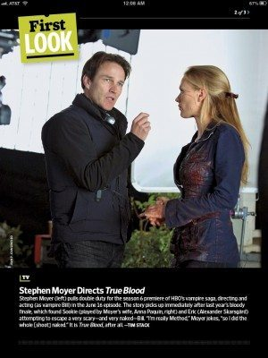 Stephen Moyer directs Anna Paquin