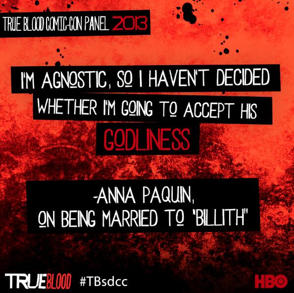 Anna Paquin comments on her marriage to Billith.