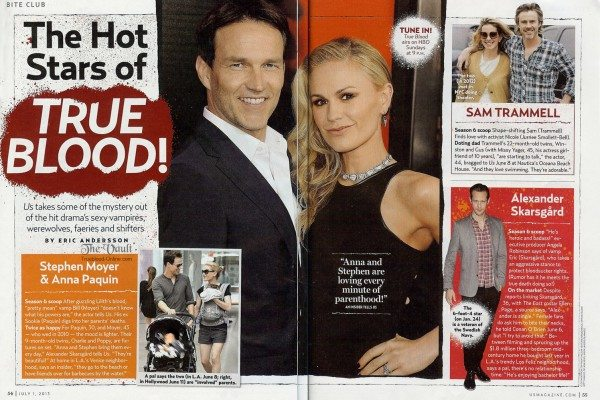 Stephen Moyer & Anna Paquin in July 2013 US Weekly