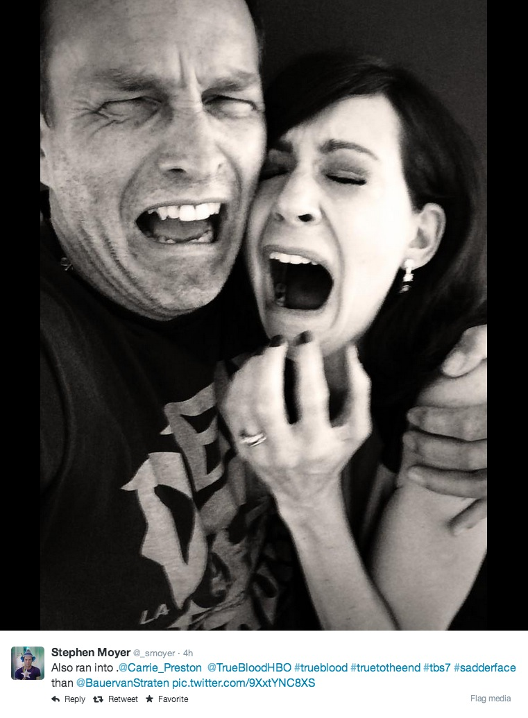 Stephen Moyer and Carrie Preston