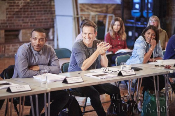 Stephen at today's table read in London.