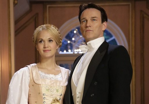THE SOUND OF MUSIC LIVE! -- Rehearsal -- Pictured: (l-r) Carrie Underwood as Maria, Stephen Moyer as Captain Von Trapp -- (Photo by: Paul Drinkwater/NBC)