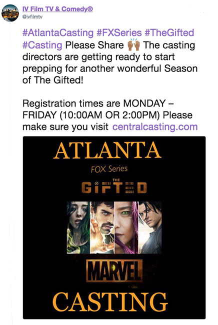The Gifted is back in Production for Season 2