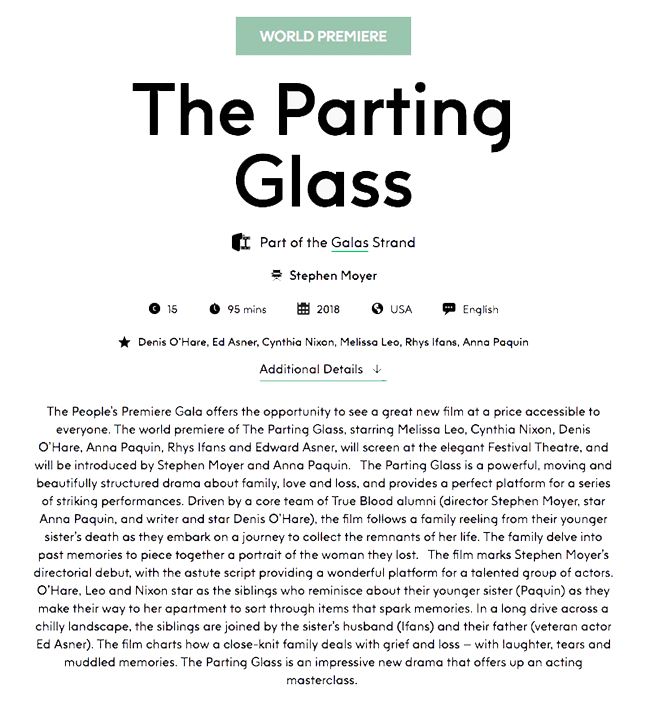 Parting Glass premiere